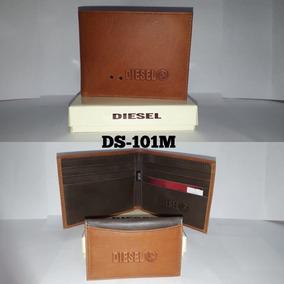 1add1cdea Billetera Diesel De Cuero Marron - Billeteras en Mercado Libre Colombia
