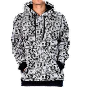 d95fa5167 Blusa Moletom Bolso Lateral Money Dolar Black Acid Star