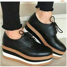 6ba4a004420 Zapato Oxford Americano Doble Planta Última Moda Del 39 Y 40