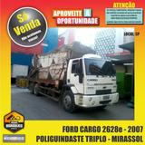 Cargo 2628e / 2007 - Poliguindaste Triplo Mirassol