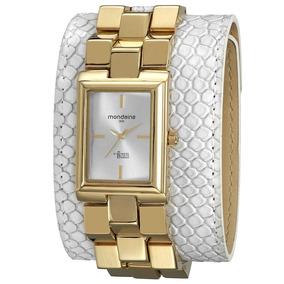 Relógio Feminino Mondaine Ivete Sangalo Branco E Dourado