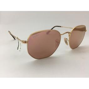 bf89b16de5f4f Oculos Ray Ban Rbn3548 N Hexagonal 51 Dourada - Óculos no Mercado ...
