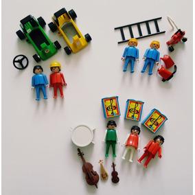 Super Lote Banda F1 Playmobil Originais Trol Geobra Antigo