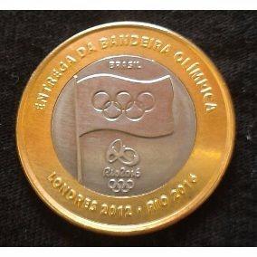 Moeda Bandeira Olimpica -