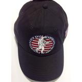 Gorra Bordado Espacial Con Bandera Usa V  Curva Color Negro 3db6340ee5f