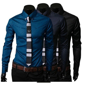 Camisa Social Slim - Camisa Social Manga Longa Masculino no Mercado ... ecbddf9cbf8