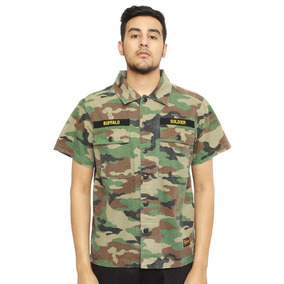 Camisa Militar Camo Ssur - Buffalo Soldier - Talla L