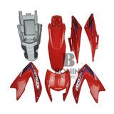 Kit Carenagem Nxr150 Bros 2012 Es Vermelha Com Adesivo