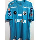 09e630e436 Camisa Santos Usada Jogo Brasileirão 2018 Vanderlei  1