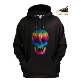 Sudadera Skull Arcoiris Rostro Calavera Color Arcoiris