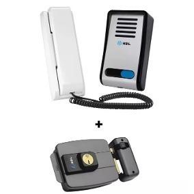 Kit Interfone Hdl Porteiro Eletrônico+fechadura