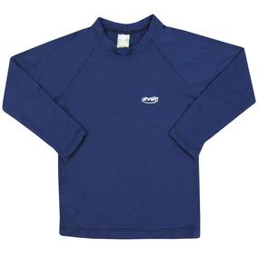 798c42c388b39 Camiseta Infantil Manga Longa Masculina Azul Marinho Com Pro