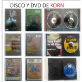 Cd Y Dvd Varios De Rock Korn, Metallica, Slipknot, Original