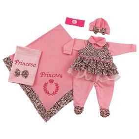 Kit Saída De Maternidade Para Meninas Bebê Princesa