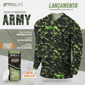 Blusa Profile Com Filtro Uv Masculina - Army