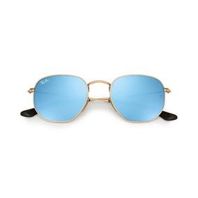 Rayban Hexagonal Azul Espelhado De Sol Ray Ban - Óculos no Mercado ... a42683a4bc