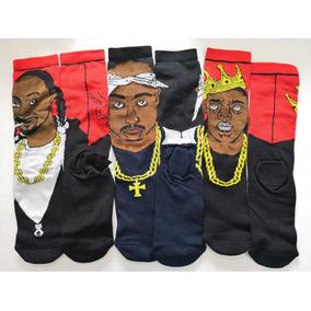 Calceta Larga Hip Hop Notorious Big Tupac Snoop Dogg 3 Pares