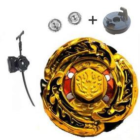 Beyblade Metal Ferro L Drago Gold Dourado Compl + Reposição