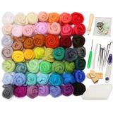 1119bea1de18d Jeteven 50 Colores Fieltro Lana Lana Merino Roving Lana Para