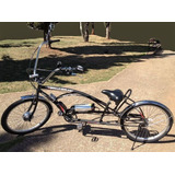 Bicicleta Elétrica Modelo Harley 250w 36v Bat Lithium 12.8ah