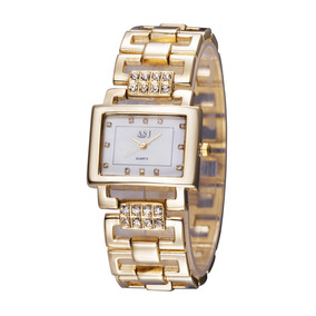 Reloj Para Dama Pulsera Cuarzo Decoraciondiamantes Dorado Md ... 804101c17c0c
