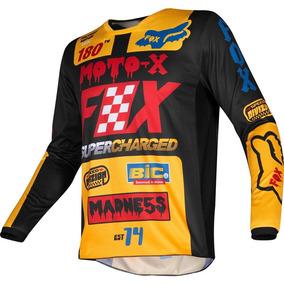 3ba7e3e5b40fd Jersey Niño Fox Kids 180 Czar Negro Amarillo Moto Mtb Bmx