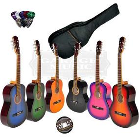 Guitarra Criolla Clasica Mediana 3/4 Funda Acolchada Cd Gtia