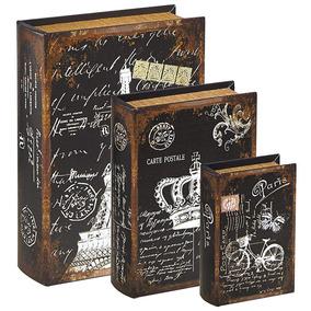 Caixa Livro Decorativa Porta Treco Paris Eiffel Organizador