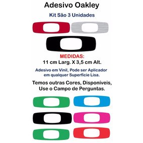 Adesivo Oakley Personalizado Kit 3 Unidades Promoção