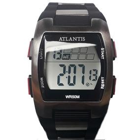 127dbdad2cd Relógio Masculino Esporte Atlantis 7308g Preto A Prova Dágua ...