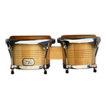 Bongo De Maple Com Pele Animal Ny Percussion