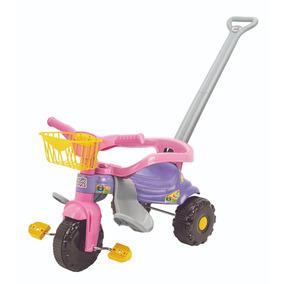 Motoca Infantil Velotrol Bebe 1 Ano Azul/rosa 2560/2561