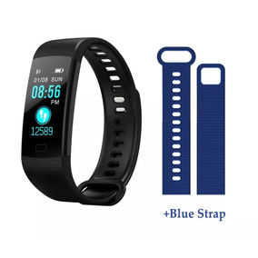 Smartband Goral Y5 Reloj Bracelet Negra + Correa Azul
