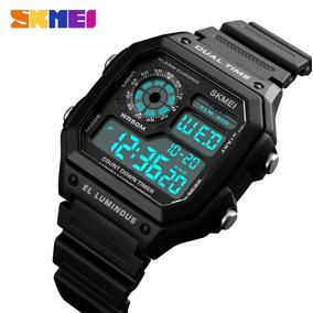 Relógio Masculino Militar Preto Digital Skmei 1335 Original