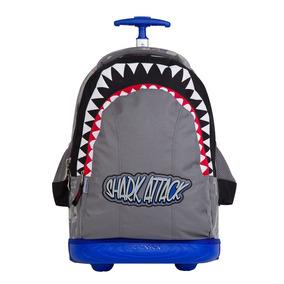 Mochila Con Ruedas Escolar Chenson Original Shark