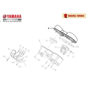 Caixa Superior Do Medidor Yamaha Ybr 09/15 Original