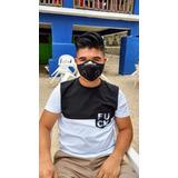 3 Máscaras De Neopreno Lote Con Filtro De Carbón Activado