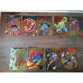 9 Cards Colecionáveis Marvel 1994 - Raros Power Blast