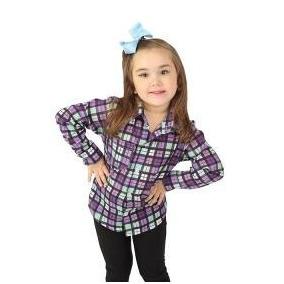 90a9b465e1e21 Camisa Xadrez Festa Junina Infantil Feminina - Camisa Manga Longa no ...