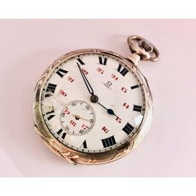 372a38ce829 Raro Relógio De Bolso Suíço Omega Prata De Lei Teor 0900