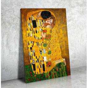 Cuadro Canvas Lienzo Klimt 50x70 El Beso Fine Art No Lona!