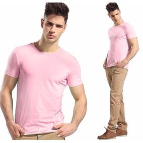 Camisa Slim Fit - Camiseta Básica Lisa - Masculina