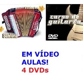 Aulas De Acordeon + Guitarra, Curso Em 4 Dvds Xcvt