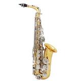 Lade Saxofn Alto Sax Saxo Brillante Grabado Eb