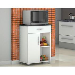 Armário Fruteira Porta Microondas Multiuso Chão Cozinha