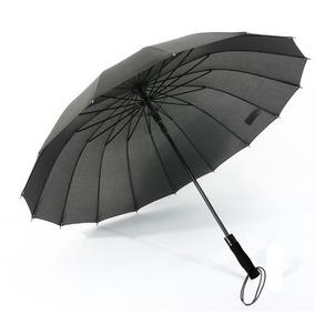 Paraguas Sombrilla Gde Reforzada Lluvias Fuertes Elegante