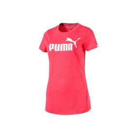 Playera Puma Ess No.1 Tee Heather W Mujer Color Rojo 1425055