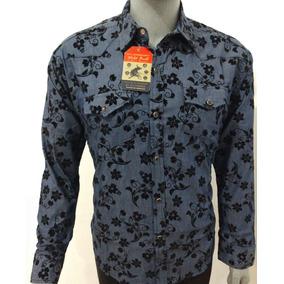 Camisa Vaquera Con Broche Para Caballero