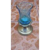 Candelabro De Metal Epns. L.b.con Vaso De Cristal ¡¡¡¡¡¡