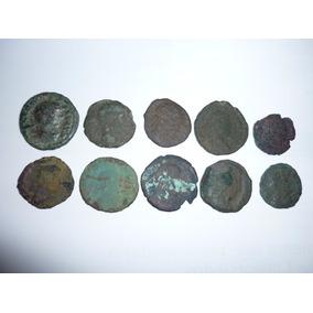 Lote Com 10 Moedas Do Império Romano